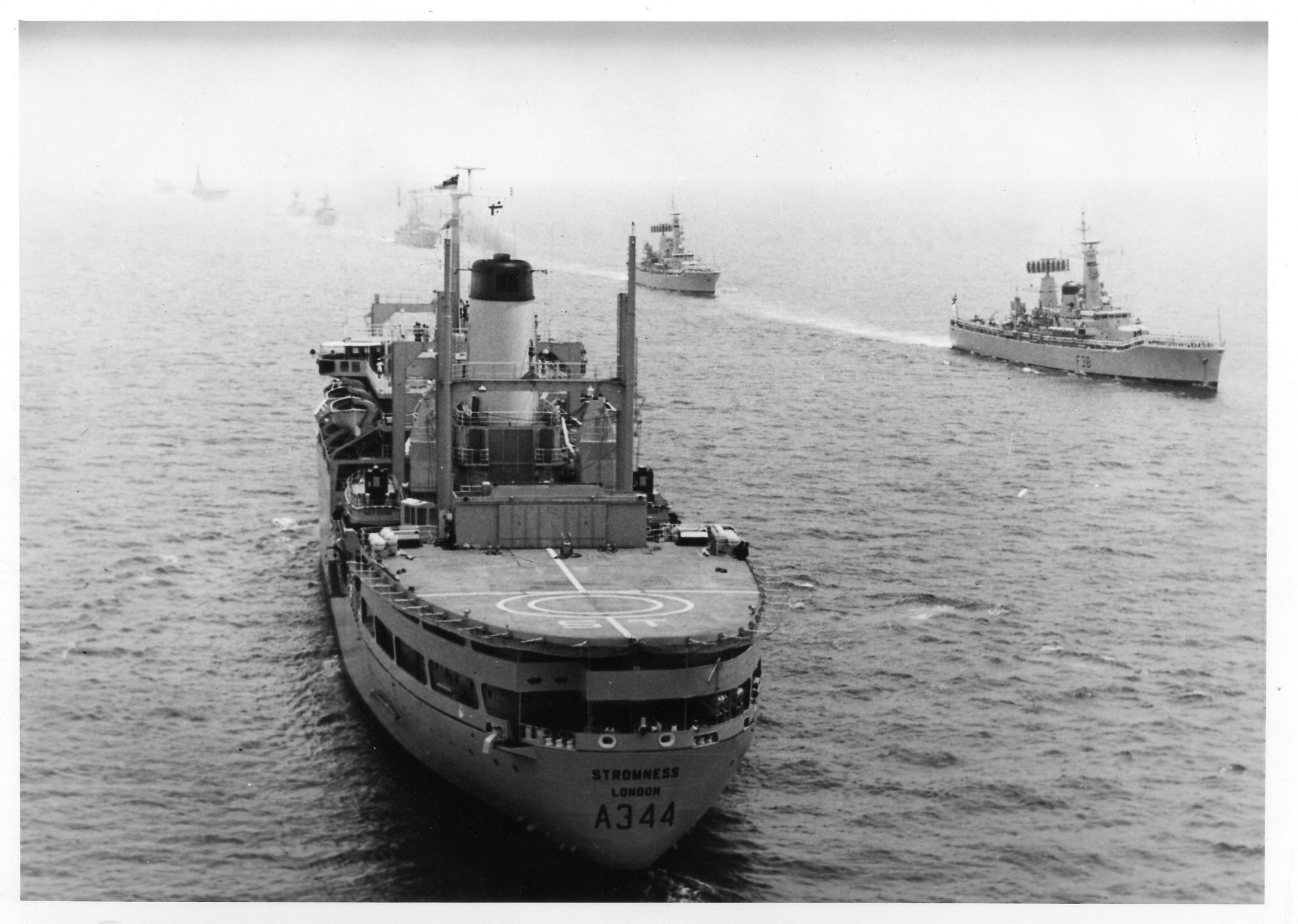 RFA Stromness as Reviewing Ship